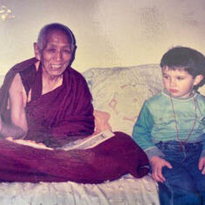 Lama Lobsang Rimpoche con mi hijo Pablo, Marzo 2004